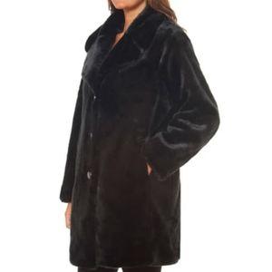 NWOT Kate Spade New York Faux Fur Button Coat S